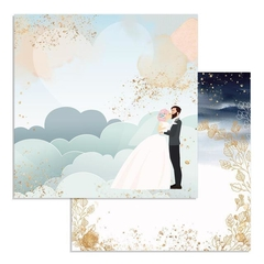 "Papel 30.5x30.5cm (12""x12"")  - Love Story Clouds"