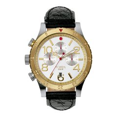 48-20 Chrono Leather Antique Silver