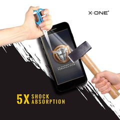 X-ONE Pelicula iPhone 7/8/SE2 preto Estreme Shock Eliminator 2D FULL na internet
