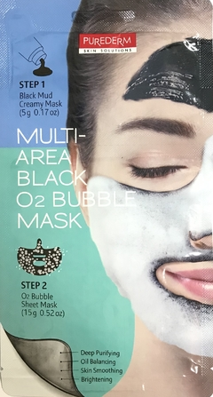 MASCARA FACIAL MULTI-AREA BLACK O² BUBBLE MASK
