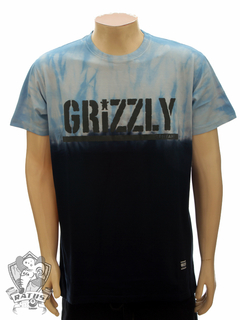 Camiseta Grizzly Fire Tie Dye - Blue