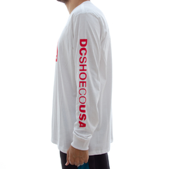 Camiseta DC M/L Square White - Ratus Skate Shop