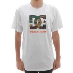 Camiseta DC Camo Filling Star White
