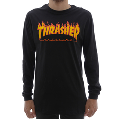 Camiseta Thrasher M/L Flame Black