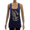 Blusinha Santa Cruz Regata Skeleton Azul