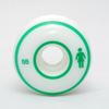 Roda Girl Staple White/Green 55mm
