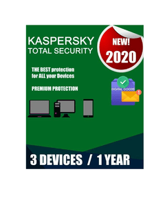 Kaspersky Total Security 2020 3 PC 1 Año Mejor Antivirus