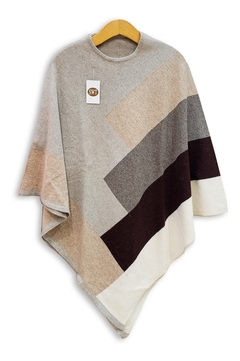 4902-A / Poncho Combinado Bremer - Switch Sweaters
