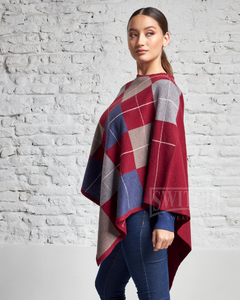 4902-R / Poncho Rombos - comprar online