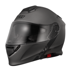 CAPACETE X11 TURNER SOLIDES ESCAMOTEAVEL CHUMBO METALÍCO