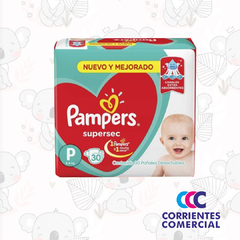 "PAÑALES ""PAMPERS"" SUPERSEC ROJO"