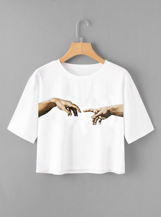 Camiseta Croped Michelangelo