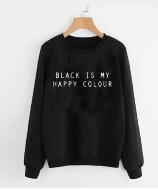 Blusa de Moletom Black Is