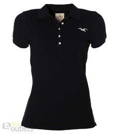 Camisa polo feminina Hollister Blue Night