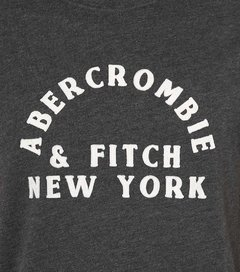 Camiseta masculina Abercrombie & Fitch Stripped GRY - comprar online