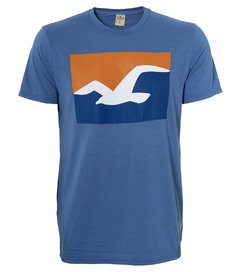 Camiseta masculina Hollister Cali Sunset
