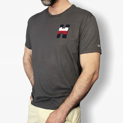 Camiseta masculina Tommy Hilfiger Colored-H - Closety