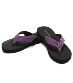 Chinelos femininos Tommy Hilfiger Grape - comprar online
