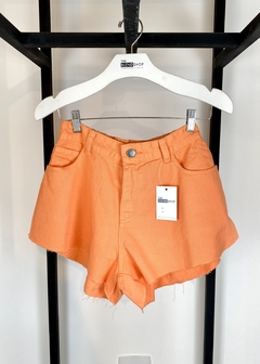 Short Jeans Godê Cintura Alta Marina Laranja - The Blend Shop