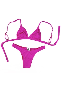 Top Biquini Triangulo Aquarius Rosa Pink - The Blend Shop