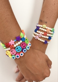 Pulseira Beads Olho Grego - The Blend Shop