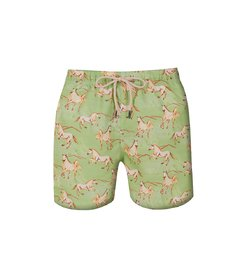 Kids Shorts Green Horse