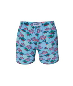 Kids Shorts Cyan Fish - buy online