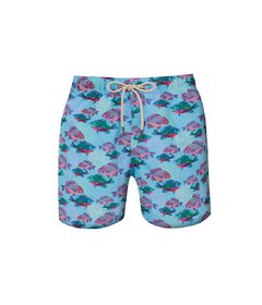 Kids Shorts Cyan Fish
