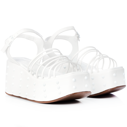 Sandália Cheery Spikes White