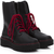 Red Lace Punk Boots