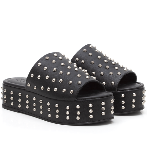 Tamanco Studded Black