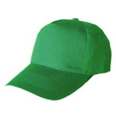 Gorra 6 gajos color verde tropical