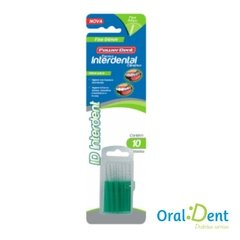Escova Dental PowerDent Interdental Fina 0,4 mm Fina Verde - comprar online