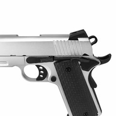 PISTOLA DE AIRSOFT À GÁS GBB GREEN GÁS R28 M1911 WARRIOR SILVER BLOWBACK 6MM - ARMY - loja online