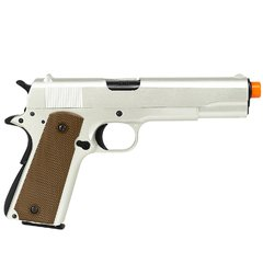PISTOLA AIRSOFT À GÁS GREEN GÁS M1911 A1 SILVER FULL METAL BLOWBACK 6MM - ARMY - comprar online
