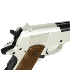 PISTOLA AIRSOFT À GÁS GREEN GÁS M1911 A1 SILVER FULL METAL BLOWBACK 6MM - ARMY - loja online