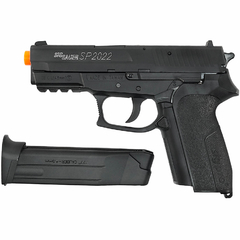 PISTOLA DE AIRGUN À GÁS CO2 SIG SAUER SP2022 SLIDE METAL GNB 4,5MM CYBERGUN na internet