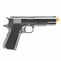PISTOLA DE AIRSOFT À GÁS GBB GREEN GÁS 1911 CROMADA MEU GEN2 FULL METAL BLOWBACK 6MM - WE - comprar online