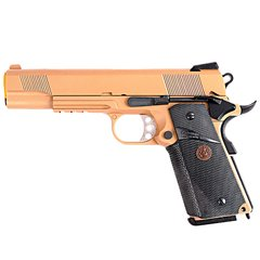 PISTOLA DE AIRSOFT À GÁS GBB GREEN GÁS 1911 MEU TAN FULL METAL BLOWBACK 6MM - WE