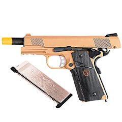 PISTOLA DE AIRSOFT À GÁS GBB GREEN GÁS 1911 MEU TAN FULL METAL BLOWBACK 6MM - WE na internet