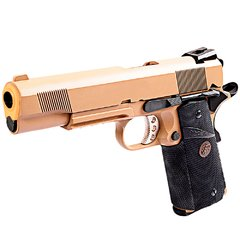 PISTOLA DE AIRSOFT À GÁS GBB GREEN GÁS 1911 MEU TAN FULL METAL BLOWBACK 6MM - WE - loja online