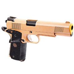 Imagem do PISTOLA DE AIRSOFT À GÁS GBB GREEN GÁS 1911 MEU TAN FULL METAL BLOWBACK 6MM - WE