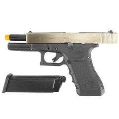 PISTOLA DE AIRSOFT À GÁS GBB GREEN GÁS G17A SILVER GEN 3 BLOWBACK 6MM - WE na internet