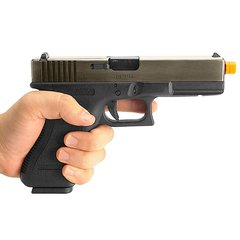 Imagem do PISTOLA DE AIRSOFT À GÁS GBB GREEN GÁS G17A SILVER GEN 3 BLOWBACK 6MM - WE