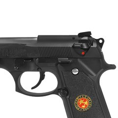 Imagem do PISTOLA DE AIRSOFT À GÁS GBB GREEN GÁS M92 BIOHAZARD BARRY BURTON BLACK FULL METAL GBB 6MM - WE