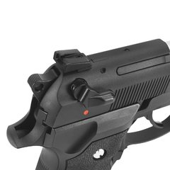 PISTOLA DE AIRSOFT À GÁS GBB GREEN GÁS M92 BIOHAZARD BARRY BURTON BLACK FULL METAL GBB 6MM - WE - comprar online
