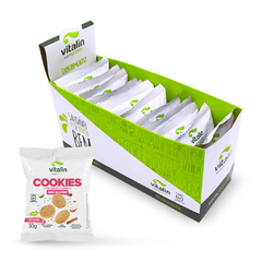 Display 12 Un - Cookies Chia com Maçã e Canela Integral Vitalin 30g