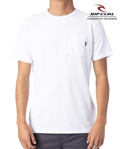 Remera Rip Curl Plain Pocket Blanca (3592)