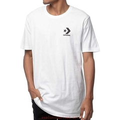 Remera Converse Left Chest Blanca