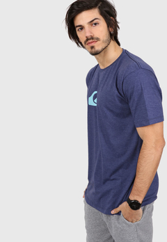 REMERA MC QUIKSILVER COMP LOGO HEATHER (AZUL)